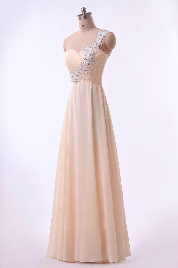 baa1dad9c55 champagne krémové společenské šaty - plesové šaty